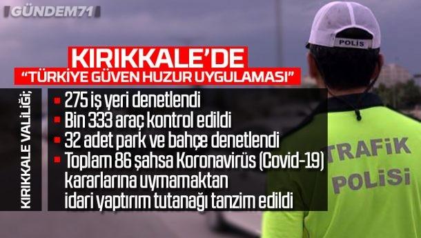 """Kırıkkale'de """"Türkiye Güven Huzur Uygulaması"""""""