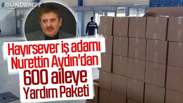 İş Adamı Nurettin Aydın'dan Kırıkkale'ye 600 Adet Yardım Paketi