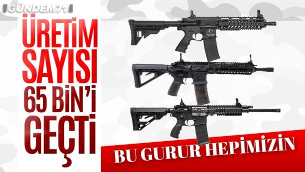 Toplam Piyade Tüfeği Üretim Sayısı 65 Bini Geçti