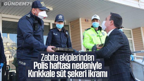 Zabıta Ekipleri, Polis Haftasını Unutmadı