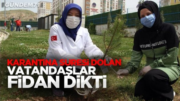 Kırıkkale'de Karantina Süresi Dolan Vatandaşlar Fidan Dikti
