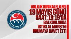 Kırıkkale Valiliği, 19 Mayıs Günü Balkonlarda İstiklal Marşı Okumaya Davet Etti