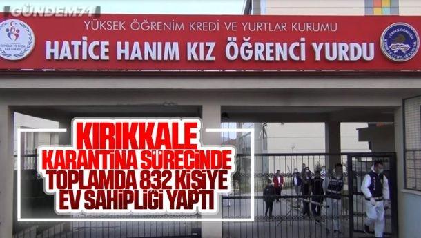 Kırıkkale, Karantina Sürecinde 832 Kişiye Ev Sahipliği Yaptı
