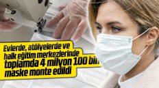 Kırıkkale'de 4 Milyon 100 Bin Maske Monte Edildi