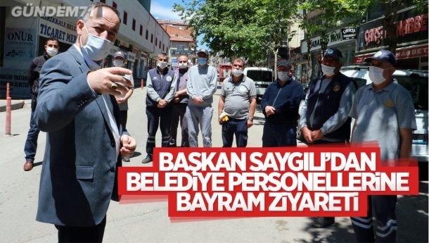 Başkan Saygılı'dan Belediye Personellerine Bayram Ziyareti