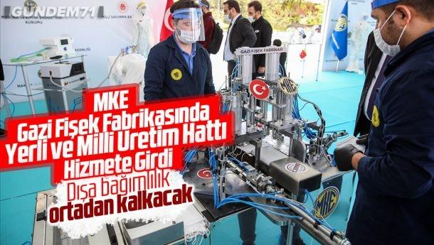 MKEK Gazi Fişek Fabrikası'nda Yerli Ve Milli Üretim Hattı Hizmete Girdi
