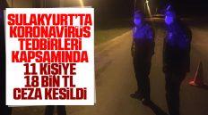 Sulakyurt'ta Koronavirüs Tedbirleri Kapsamında 11 Kişiye 18 Bin TL Ceza Uygulandı