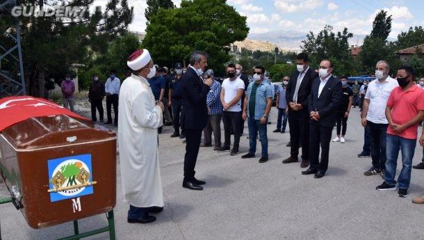 Vali Sezer, 15 Temmuz Gazisi Kerim Can Çörtebaş'ın Cenaze Törenine Katıldı