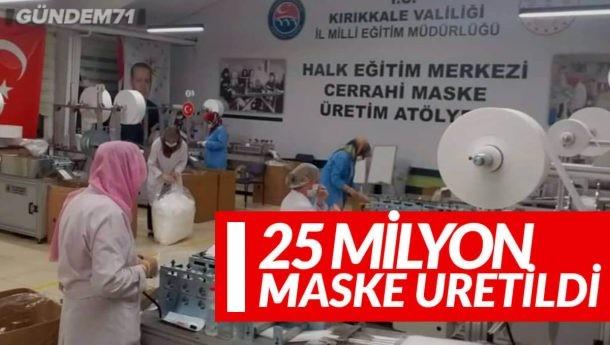 Kırıkkale'de Kurulan Tesiste 20 Günde 25 Milyon Maske Üretildi
