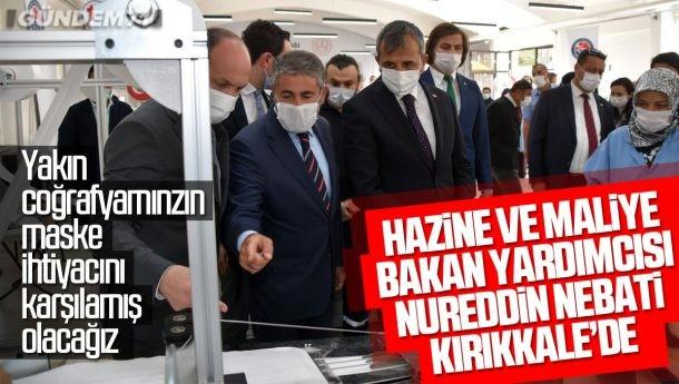 Bakan Yardımcısı Nebati; Kırıkkale Halk Eğitim Merkezi Maske Üretim Atölyesini İnceledi