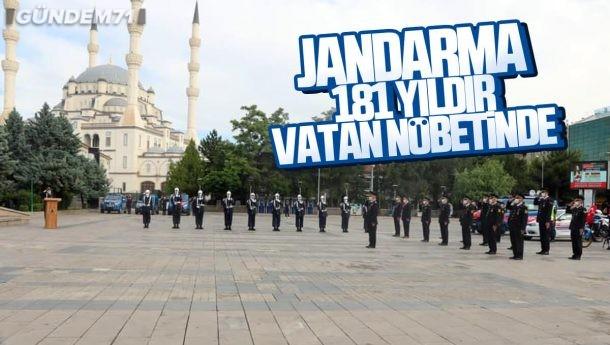 Jandarma Teşkilatının 181. Kuruluş Yıldönümü Kırıkkale'de Kutlandı
