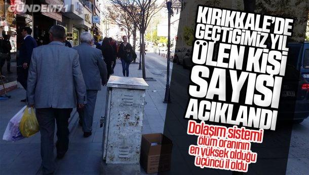 Kırıkkale'de 2019 Yılında Ölen Kişi Sayısı Bin 933 Oldu