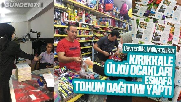 Kırıkkale Ülkü Ocakları'ndan Esnafa Tohum Dağıtımı Yapıldı