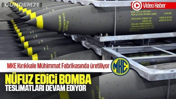 Nüfuz Edici Bomba'nın Yeni Parti Teslimatı Yapıldı