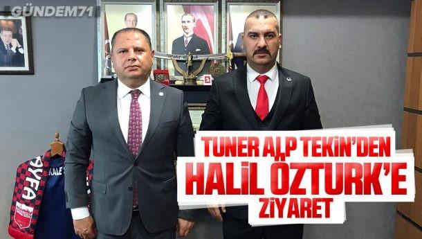 Tuner Alp Tekin, Halil Öztürk'ü Ziyaret Etti
