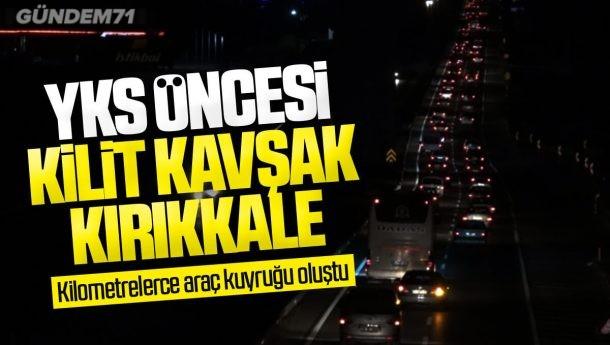 Sokağa Çıkma Kısıtlaması Öncesi Kilit Kavşak Kırıkkale'de Trafik Yoğunluğu