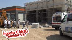 İnşaatın İskelesi Çöktü; 2 İşçi Yaralandı