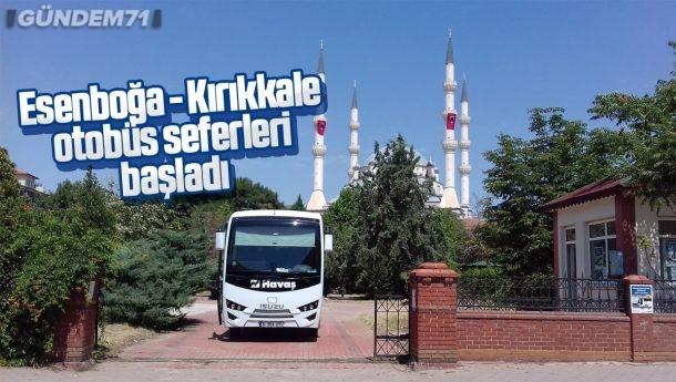 Esenboğa – Kırıkkale Otobüs Seferleri Başladı