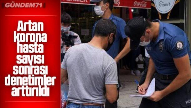 Kırıkkale'de Polisten Koronavirüs Denetimi