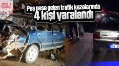 Kırıkkale'de Trafik Kazaları: 4 Kişi Yaralandı