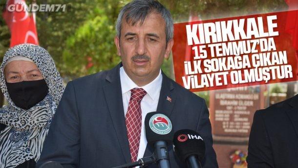 Vali Sezer, Kırıkkale Şehitiliği'ndeki Törende Konuştu