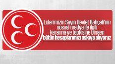 MHP'liler Bütün Sosyal Medya Hesaplarını Askıya Aldı