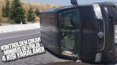 Kontrolden Çıkan Minibüs Devrildi; 4 Yaralı