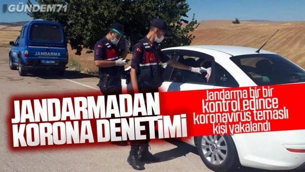 Kırıkkale'de Jandarmadan Eş Zamanlı Covid-19 Denetimi
