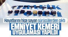 Kırıkkale'de Emniyet Kemeri Uygulaması Yapıldı