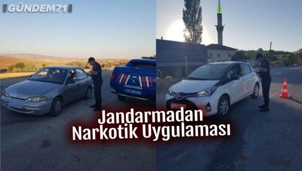 Kırıkkale'de Jandarmadan Narkotik Uygulaması