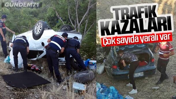 Kırıkkale'de Trafik Kazaları Çok Sayıda Yaralı Var