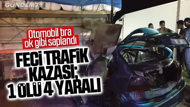Kırıkkale'de Feci Kaza; 1 Ölü 4 Yaralı