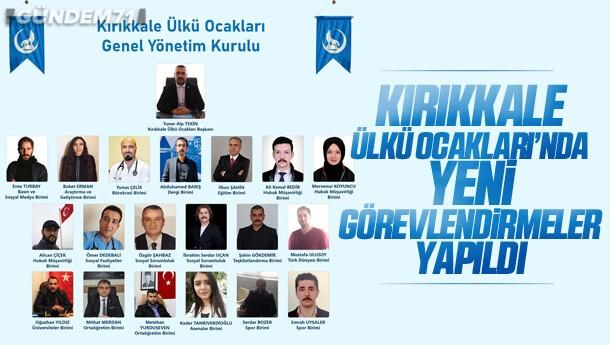 Kırıkkale Ülkü Ocakları'nda Yeni Görevlendirmeler Yapıldı
