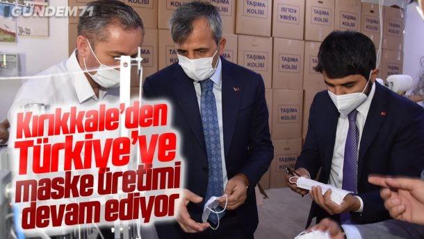 Kırıkkale'den Türkiye'ye Maske Üretimi Devam Ediyor