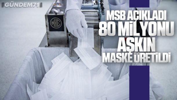 MSB Açıkladı; MKE ve Dikimevlerinde 80 Milyonu Aşkın Maske Üretildi