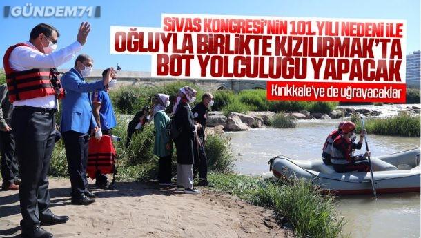 Sivas'tan Kızılırmak Boyunca Oğluyla Birlikte Bot Yolculuğu Yapacak