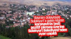 Sulakyurt Belediyesi'nden Koronavirüs Uyarısı