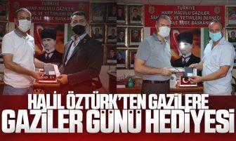 Halil Öztürk'ten Gazilere Anlamlı Hediye