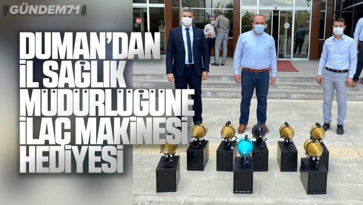 Öz Osmanlı Tarım'dan İl Sağlık Müdürlüğüne İlaçlama Cihazı ve Dezenfektan Hediyesi