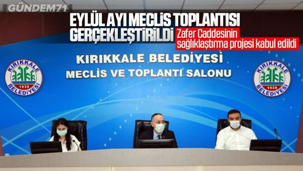 Kırıkkale Belediye Meclisi Eylül Ayı Meclis Toplantısı Gerçekleştirdi