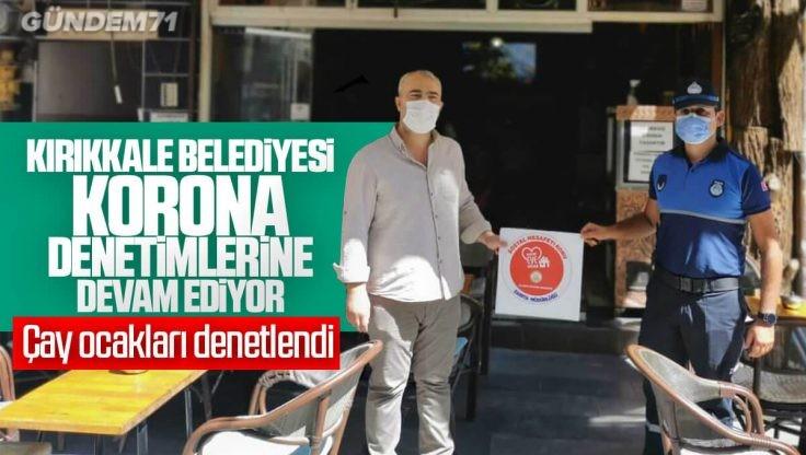 Kırıkkale Belediyesi'nden Koronavirüs Denetimi