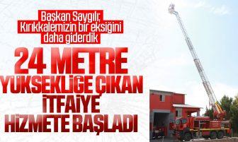Kırıkkale'de 24 Metre Yüksekliğe Ulaşan İtfaiye Aracı Hizmete Başladı
