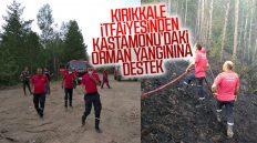Kırıkkale Belediyesi İtfaiye Ekiplerinden Kastamonu'daki Orman Yangınına Destek