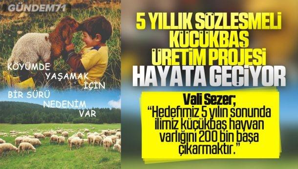 """Kırıkkale'de """"Köyümde Yaşamak İçin Bir SÜRÜ Nedenim Var"""" Projesi Hayata Geçiyor"""
