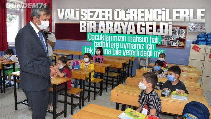 Kırıkkale Valisi Yunus Sezer Öğrencilerle Bir Araya Geldi
