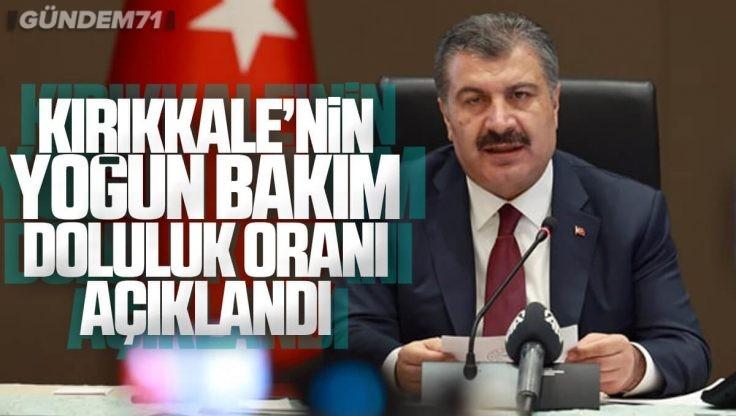 Bakan Koca Açıkladı; İşte Kırıkkale'nin Yoğun Bakım Doluluk Oranı