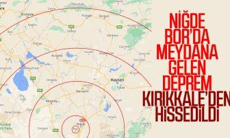 Niğde Bor'da Meydana Gelen Deprem Kırıkkale'den Hissedildi