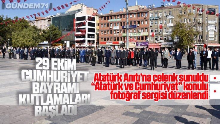Cumhuriyetin 97. Yıl Dönümü Kutlamaları Çelenk Sunma Töreni İle Başladı