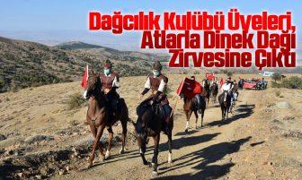 Dağcılık Kulübü Üyeleri, Atlarla Dinek Dağı Zirvesine Çıktı