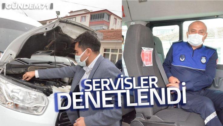 Kırıkkale Belediyesi Tarafından Servisler Denetlendi